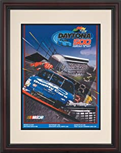 NASCAR Framed 8.5 x 11 Daytona 500 Program Print Race Year: 39th Annual - 1997 by Mounted Memories