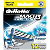 Ancienne version Gillette  MACH3 Turbo - Pack de 12 recharges