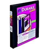 Avery Durable View Binder with 1-Inch Slant Ring, Holds 8.5 x 11-Inch Paper, Black, 1 Binder (17011)
