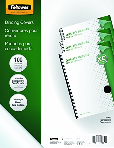 Fellowes-Binding-Presentation-Covers-Letter-100-Pack-Clear-52089