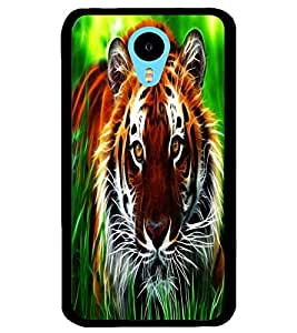 ColourCraft Tiger Look Design Back Case Cover for MEIZU M1 NOTE