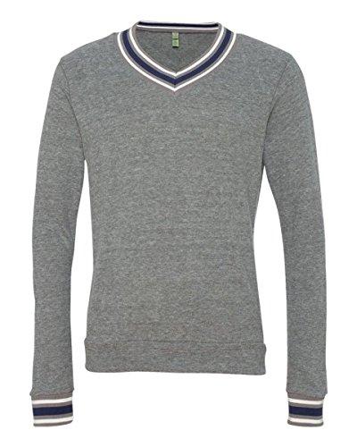 Alternative Men's V-Neck Sweatshirt - ECO GREY - 2XL