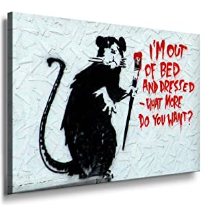 graffiti street art banksy leinwand bild 100x70cm. Black Bedroom Furniture Sets. Home Design Ideas
