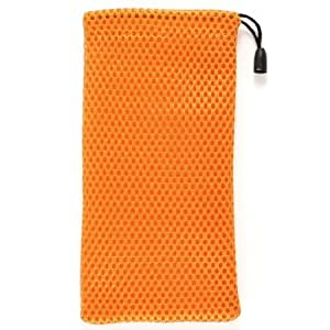 Mobile Phone Protector Mp3 Holder Mesh Pouch Bag Orange