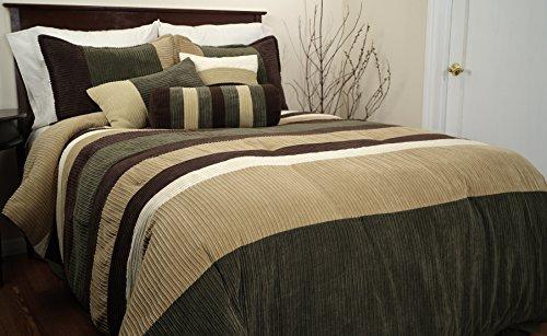 Epoch Hometex, Inc Geo Queen Bed Set, Olive front-8253