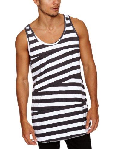 Religion Ltd Big Stripe Vest Men's T-Shirt Washed Black Large