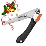EverSaw FOLDING HAND SAW All Purpose, Wood, Bone, PVC. Best for Tree Pruning, Camping, Hunting, Toolbox. Rugged 8