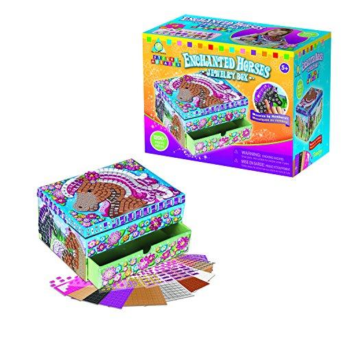 ORB Factory Enchanted Horses Jewelry Box - kits de manualidades para niños (Sticks, Chica, Azul, Marrón, Oro, Rosa, Rosewood, Color blanco)