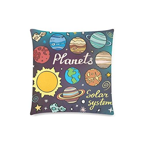 GUNCHU Custom Solar System Planets Cartoon Decorative Throw Pillow Case Cushion Cover 18