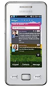 Samsung S5260 Tocco Icon White Smart Mobile Phone on Vodafone Pay as you go / Pre-Pay / PAYG
