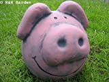 ROUND FAT PIG GARDEN ORNAMENT - FREE P&P