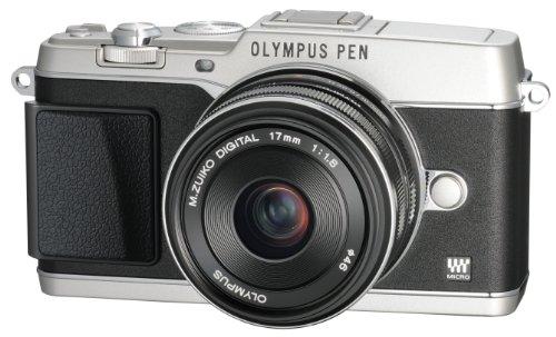 OLYMPUS マイクロ一眼 PEN E-P5 17mm F1.8 レンズキット(ビューファインダー VF-4セット) シルバー E-P5 17mm F1.8 LKIT SLV