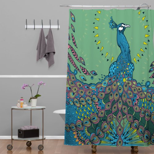 DENY Designs Geronimo Studio Peacock 1 Shower Curtain 69 By 72