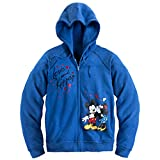 Mickey & Minnie Mouse Womens' Zip Front Hoodie