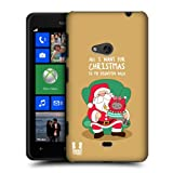 Head Case Designs Christmas Wish Wilbur the Cat All Star Christmas Protective Snap-on Hard Back Case Cover for Nokia Lumia 625