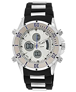 Ego by Maxima Analog-Digital Silver Dial Men's Watch - E-35101PAAN
