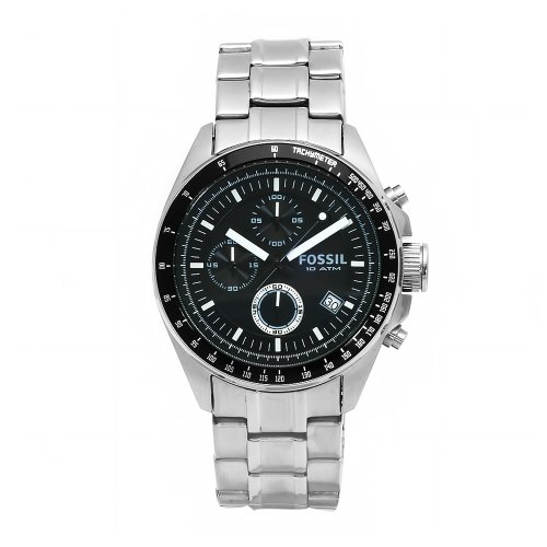 Fossil Men's CH2600 Decker Chronograph Stainless Steel Black Dial Watch