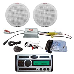 See Pyle Deluxe CD/MP3 Audio & Speakers Package for Boat/Car/Truck/SUV -- PLCDMR97 1.5-Din AM/FM Receiver CD/CDR/MP3/AM-FM Marine Grade Player + PLMRKT2A 2 Channel Waterproof MP3/iPod Amplified 6.5' Marine Speaker System. Details