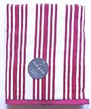 """Plush & Soft Striped Bath Towel 100% Cotton 30"""" x 58"""" (Fuscia/Pink Stripe)"""