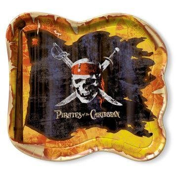 "Pirates of the Caribbean 9"" Dinner Plates - 8 Count - 1"