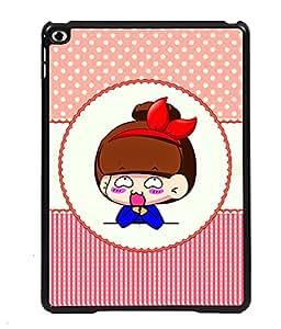 PRINTVISA Sady Girl Premium Metallic Insert Back Case Cover for Apple IPad Air 3 - D6115