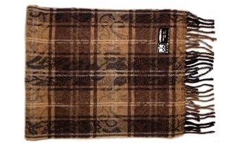Leather Italia Unisex Lambswool Striped Scarf (ILS103) Brown