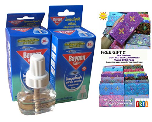"""""""Thaicomplex"""" 2 X Refillable Protector Raid Mosquito Baygon Electric Liquid Type On Sell With Complementary"""
