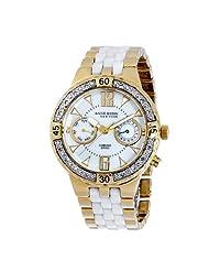 Anne Klein New York Women's 121640WMWB Gold-Tone and White Ceramic Diamond Watch