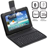 Wireless Bluetooth Keyboard + Leather Case Stand for Samsung Galaxy Tab 8.5