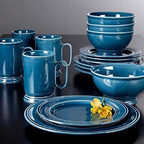 Aqua Blue Admiware 16 Piece Dinnerware Set
