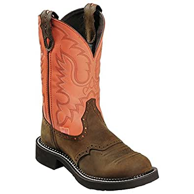 Justin Women's Coral Stitched Gypsy Cowgirl Boot Round Toe Bay Apache 5 M US