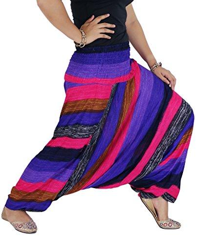 authenticasia-arcobaleno-collezione-super-morbido-2-in-1-pantaloni-harem-e-tuta-pink-taglia-unica