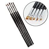 CellDeal 5 pcs Nail Art Flat Brush Painting Pen Kit Tool Set Dotting Salon DIY style