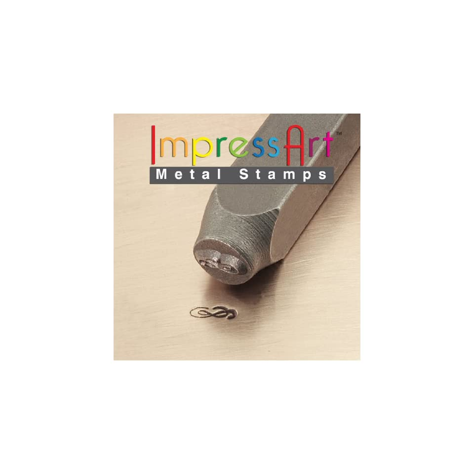 6mm ImpressArt Flourish A Metal Jewelry Design Stamp