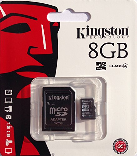 Kingston 8GB micro SD Class 4 Speicherkarte für Samsung Galaxy S4 Mini i9195 Black Edition + SD Adapter