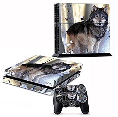 NuoYa001 Wolf Skin Sticker For PS4 Playstation 4 Console+Controller