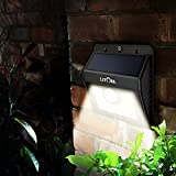 Litom Super Bright 8 LED Solar Powered Wireless Security Motion Sensor Light with Three Intelligent Modes,Weatherproof,Wireless Exterior Security Lighting