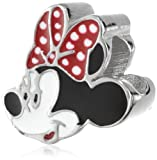 Disney Stainless Steel Minnie Enamel Bead Charm