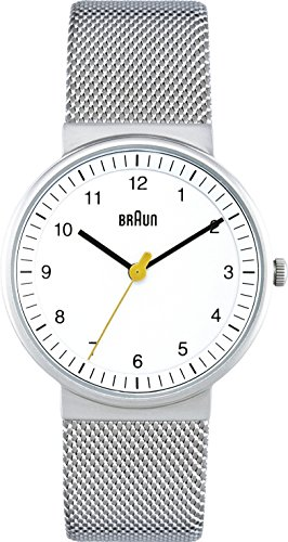 Braun Damen-Armbanduhr BN0031WHSLMHL Analog Quarz Edelstahl