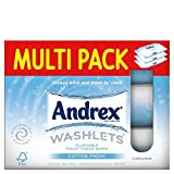 Andrex Washlets Cotton Fresh Moistened Toilet Tissue Wipes (42 per pack x 3)