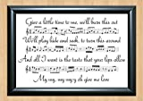 Ed Sheeran 'Give Me Love' Song Sheet Lyrical Art Print A4 Size