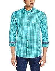 Park Avenue Men's Casual Shirt (8907252577835_PCSA00890-N3_44_Medium Green)
