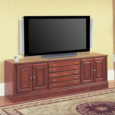 Cheap Charthouse 78″ TV Stand with iPod Dock in Honey Brown (CHA800i)