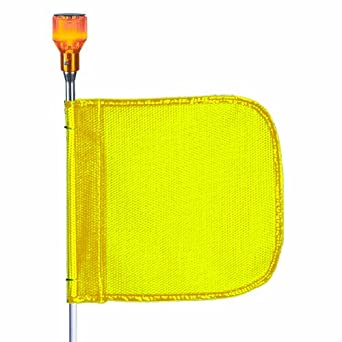 Flagstaff FS10 Split Pole Safety Flag with Light, Male Quick Disconnect Base