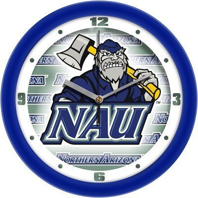 Suntime Northern Arizona Lumberjacks Suntime 12 Dimension Glass Crystal Wall Clock - Ncaa College Athletics