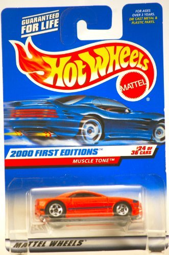 2000 - Mattel / Hot Wheels - Muscle Tone (Fiero: Red) - Pontiac - 2000 First Editions #24 of 36 Cars - 1:64 Scale Die Cast Metal - MOC - Limited Edition - Collectible - 1