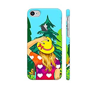 Colorpur Girl Wandering In The Woods Designer Mobile Phone Case Back Cover For Apple iPhone 7 with hole for logo | Artist: Sangeetha