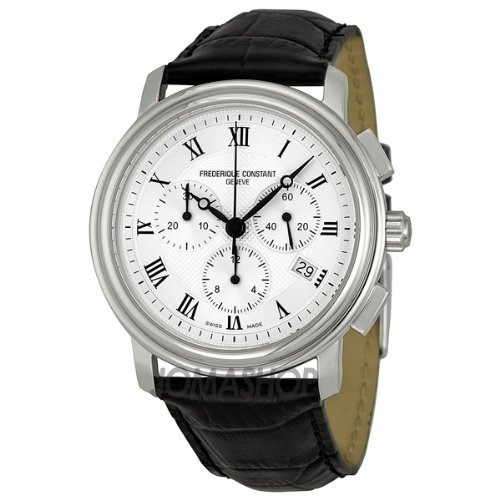 Frederique Constant Men's FC292MC4P6 Persuasion Black Strap Chronograph Watch
