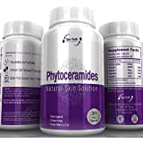 Phytoceramides 350 mg Capsules Gluten Free, Plant Derived, Wheat Free with Sweet Potato, Organic & All Natural Anti Aging Wrinkle Repair Skin Supplement with Vitamins A, C, D, E for a Natural Facelift and Healthy Nails, Hair, Cell Renewal by Increased Collagen