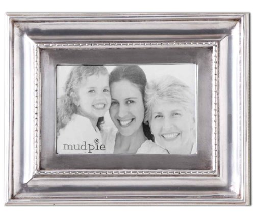 Mud Pie Antique Pewter Frame, 5 by 7-Inch